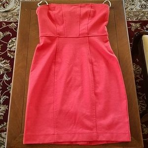Forever 21 strapless red dress size small petite